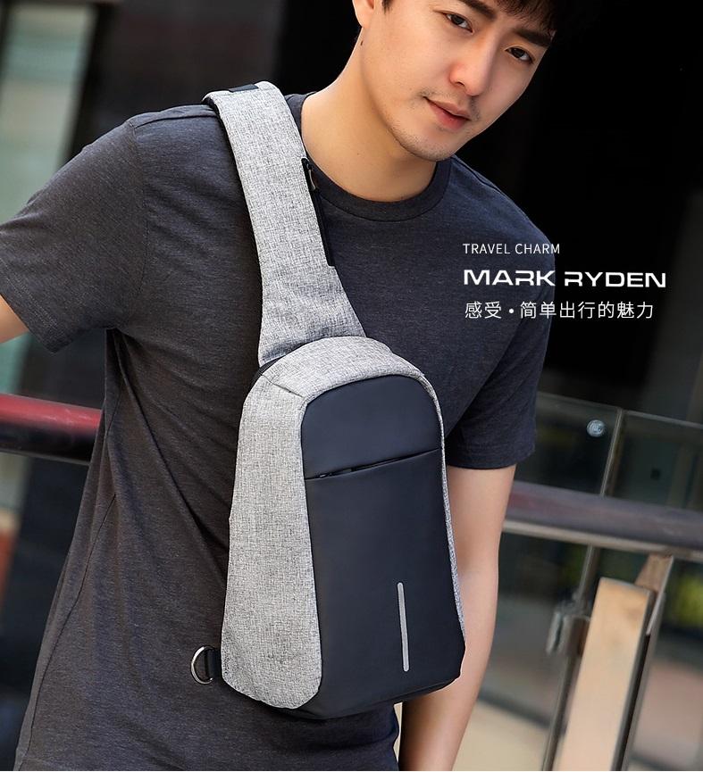 MARK RYDEN กระเป๋าคาดอก กันขโมย รุ่น MR5898 สีเทา สีดำ