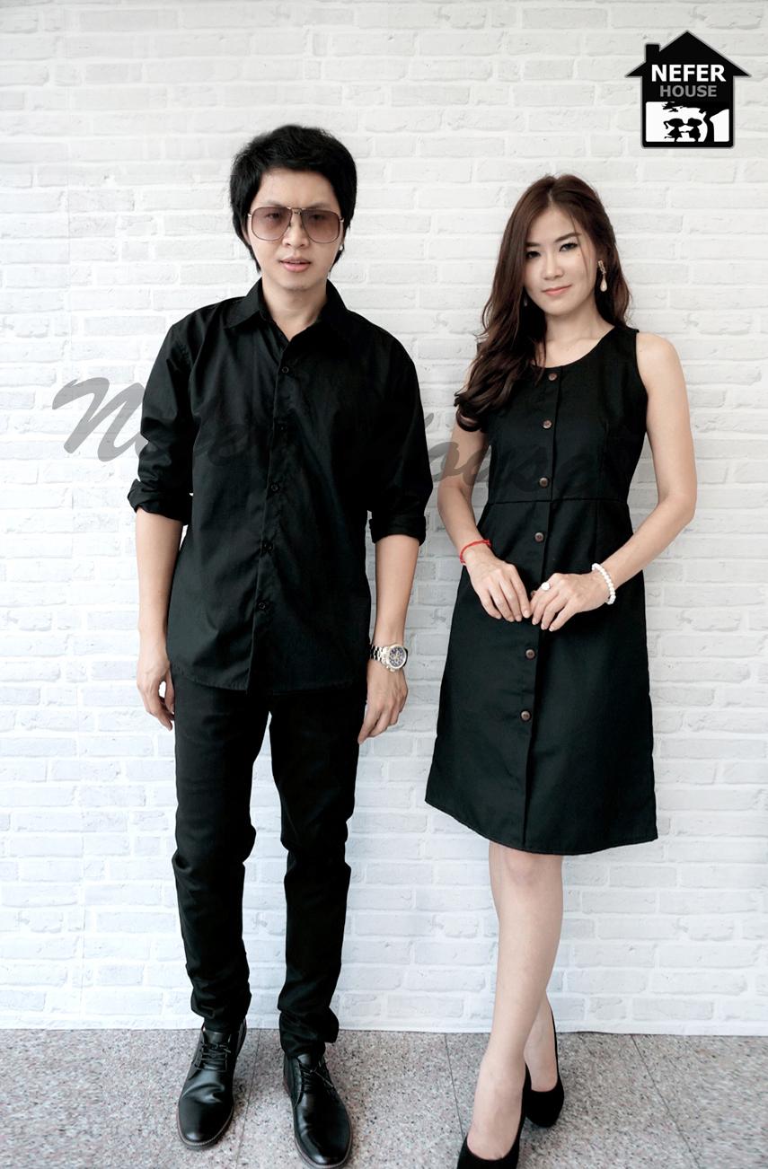 เสื้อดำ เสื้อเชิ้ตดำ เดรสสีดำ