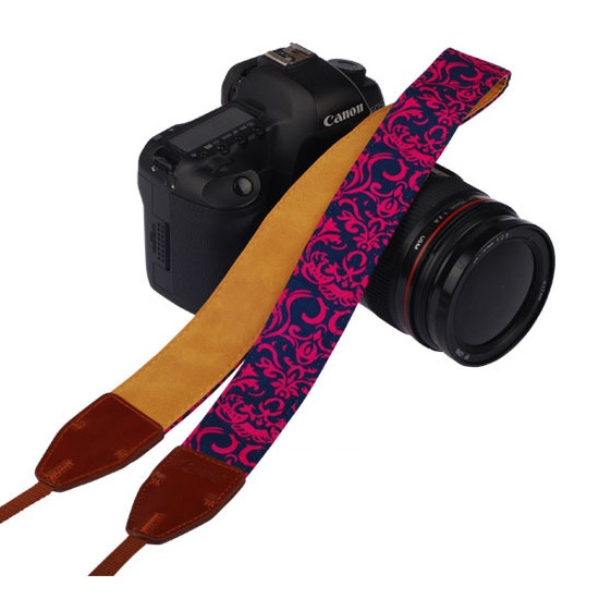 สายคล้องกล้องLYNCAรุ่นผสมหนังPU LL-17