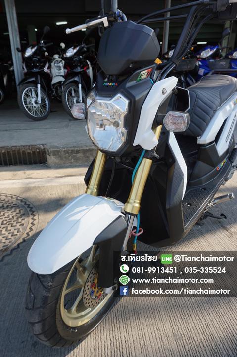 ZOOMER-X ปี55 สภาพดี สีขาวสวย ขับขี่เยี่ยม ราคา 32,000
