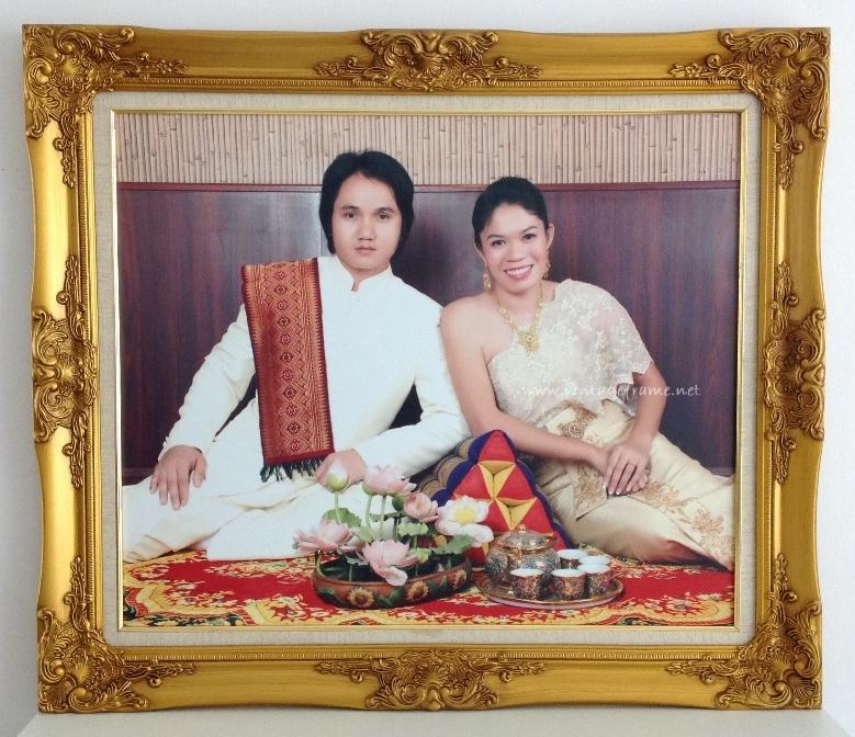 กรอบรูปพรีเวดดิ้ง กรอบรูปแต่งงานราคาถูก กรอบหลุยส์ราคาถูก กรอบหลุยส์ชุดไทย