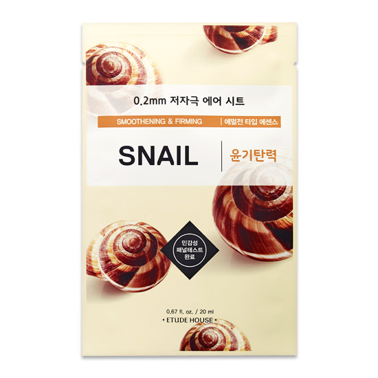 Etude House Smoothening&Firming Snail Mask Sheet 20 ml.