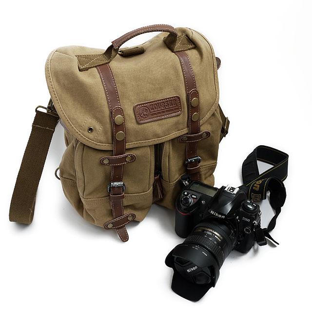 กระเป๋ากล้องCOURSER F1006 สีกากี สะพายหลัง&สะพายข้าง
