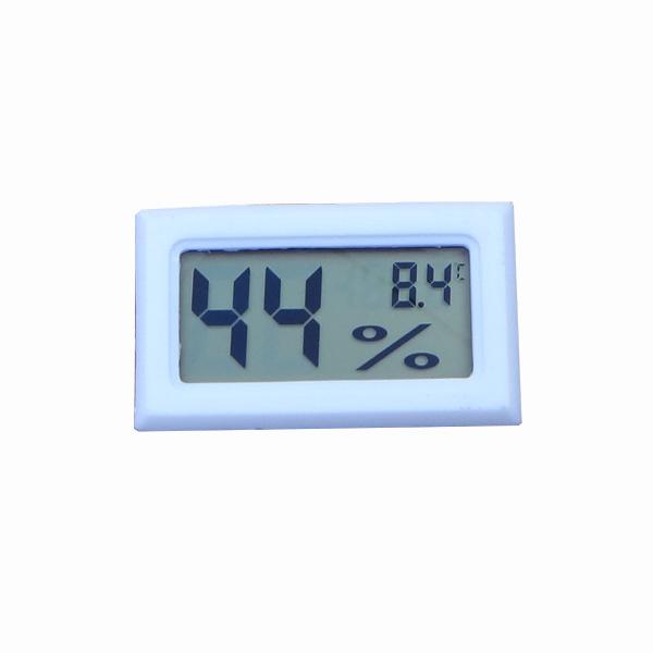 เครื่องวัดความชื้นและอุณหภูมิ เทอร์โมมิเตอร์ / ไฮโกรมิเตอร์ ดิจิตอล- สีขาว