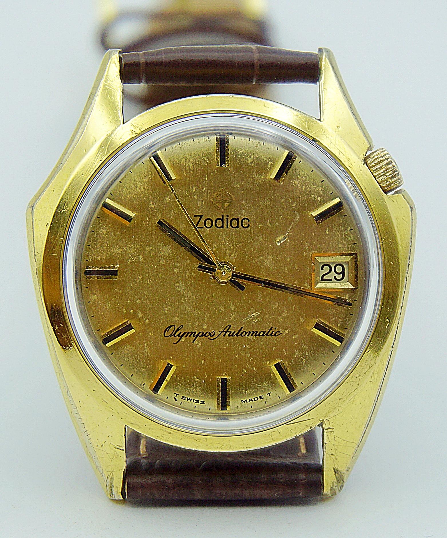 นาฬิกาเก่า ZODIAC ออโตเมติก