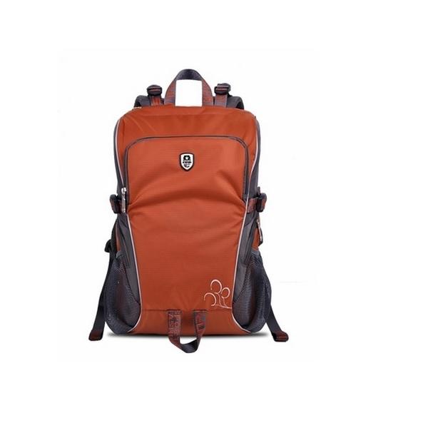 กระเป๋ากล้อง colorful trendy backpack สีอิฐ(น้ำตาลอมส้ม)
