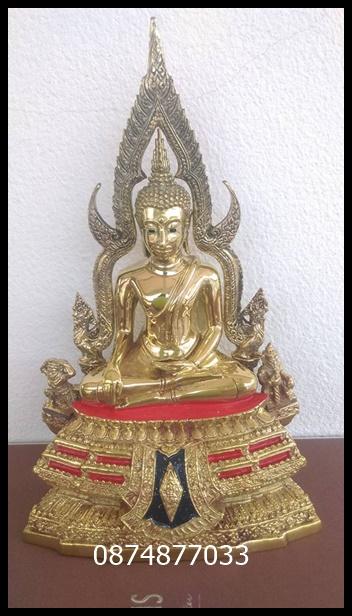 พระพุทธชินราช3นิ้ว เนื้อทองเหลืองขัดมันหน้าตัก 3 นิ้ว ออกโดยวัดใหญ่พิษณุโลก รหัส0155