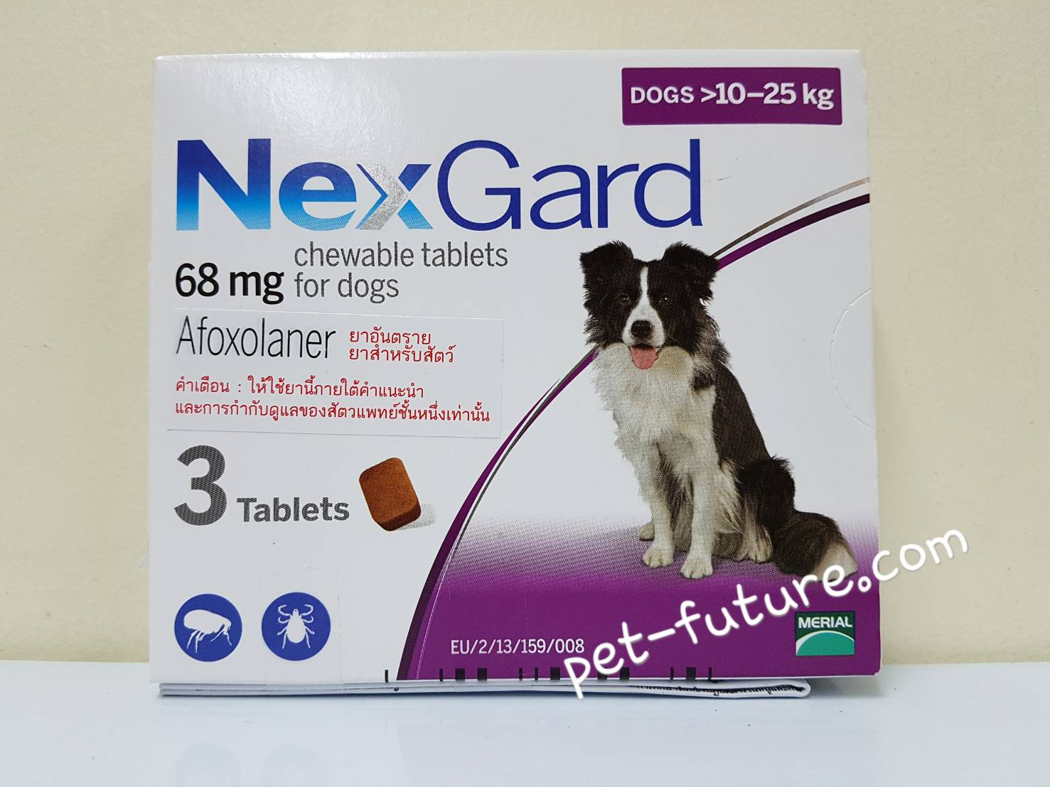 NexGard dogs 10-25 kg. Exp.10/20 ขนาด 68 mg.