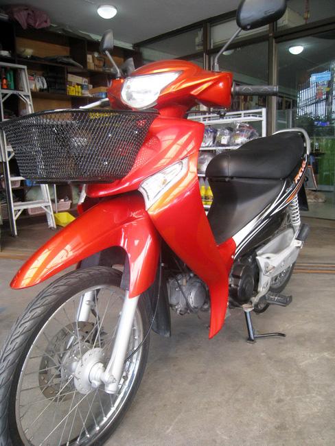 SMASH Revo สีแดง-ดำ ปี51