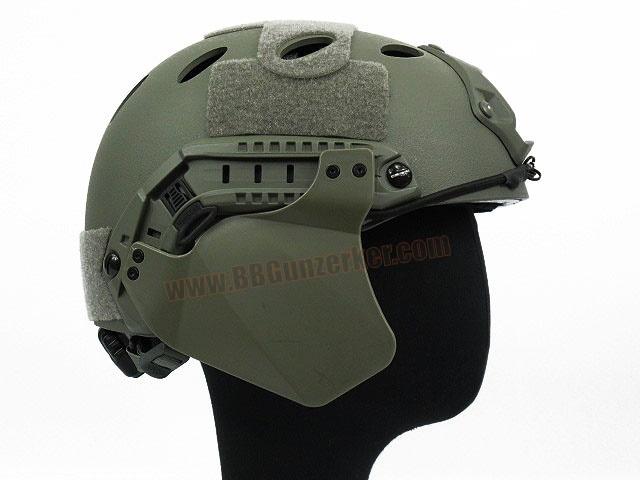 Side Cover สำหรับหมวก Fast สีเขียว - FMA
