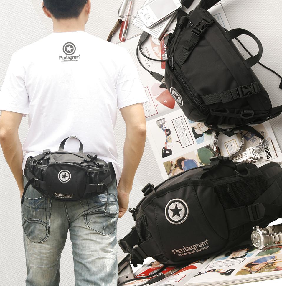 Pentagram กระเป๋าคาดเอว รุ่น A001 สีดำ (รอสินค้า15-20วัน)