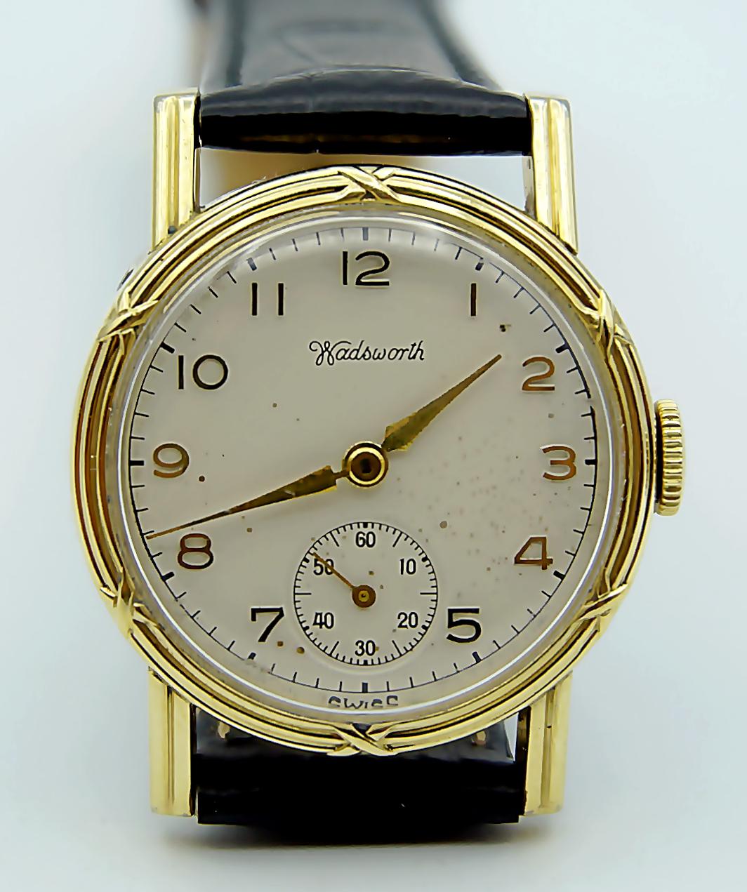 นาฬิกาเก่า WADSWORTH ไขลานสองเข็มครึ่ง
