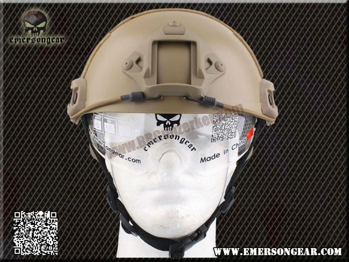 หมวก Emerson Fast Helmet MH Type มีแว่นในตัว