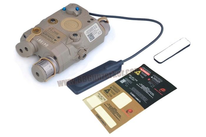 ไฟฉาย+เลเซอร์ PEQ-15 / LA-5C UHP สีทราย + สวิทซ์หางหนู - Element