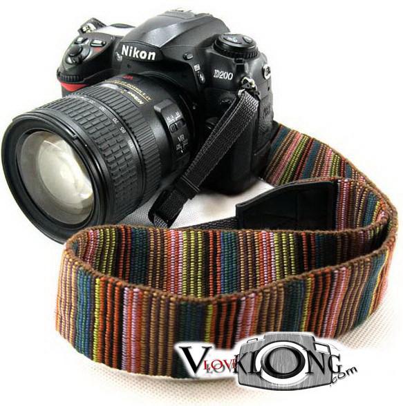 Camera Strap สายคล้องคอกล้อง Rainbow