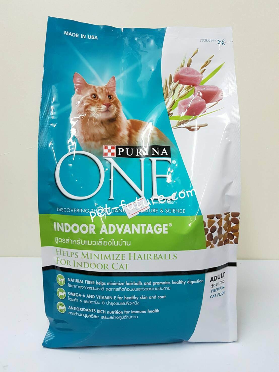 Purina Indoor Advantage สูตรสำหรับแมวเลี้ยงในบ้าน สำหรับแมวโต 1.3 kg. Exp.8/18