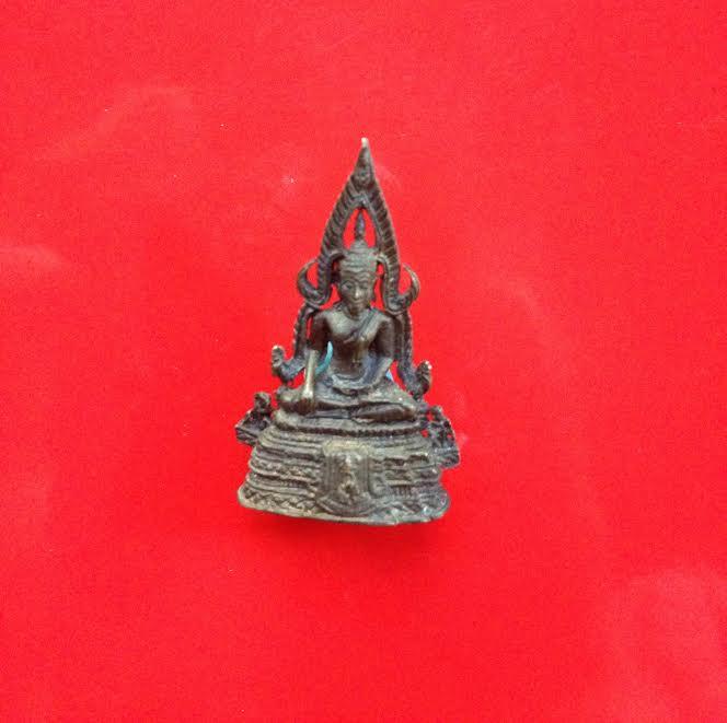 พระกริ่งชินราช เนื้อนวโลหะ อุดตัว นะ รุ่นผ้าทิพย์ ภปร รหัส 0168