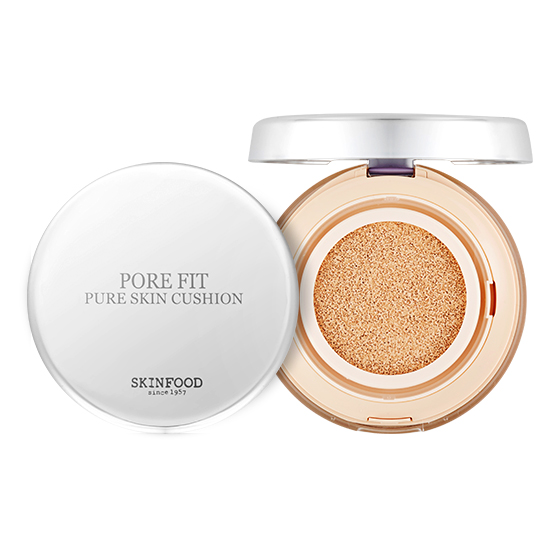Skinfood Pore Fit Pure Skin Cushion SPF50+ PA+++#2 Nude Vanilla