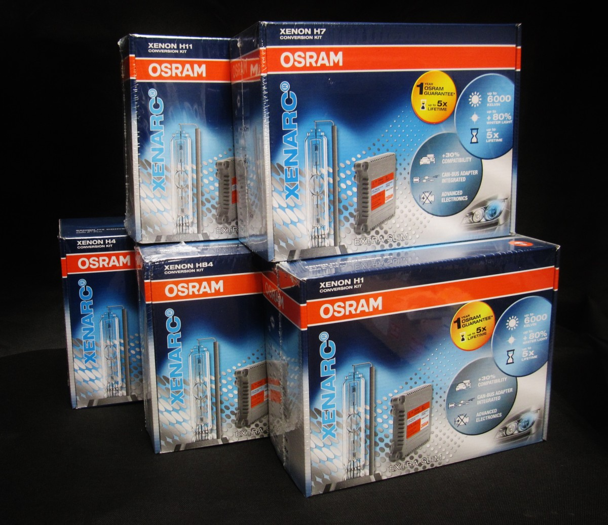 Osram Xenon Conversion Kit [6000K] H1,H4,H7,H11,HB3,HB4