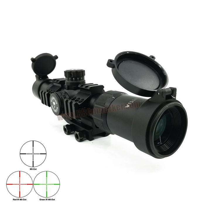 กล้องเล็งไว Scope VISIONKING 1-4x28E พร้อมขาจับราง Tactical