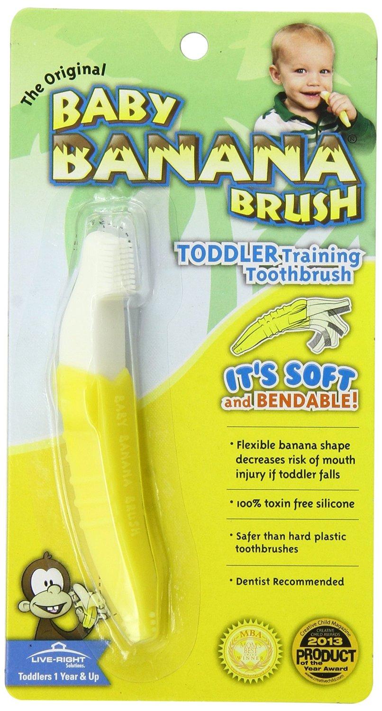 แปรงกล้วยสำหรับน้องๆอายุ 1 ปีขึ้นไป