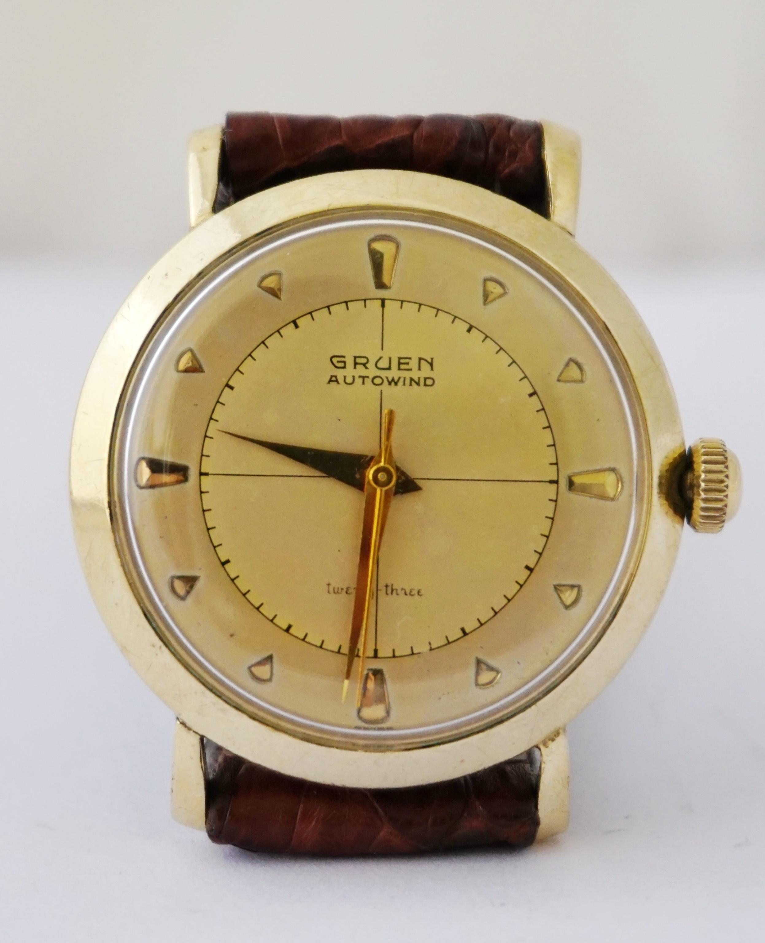 นาฬิกาเก่า GRUEN ออโตเมติก