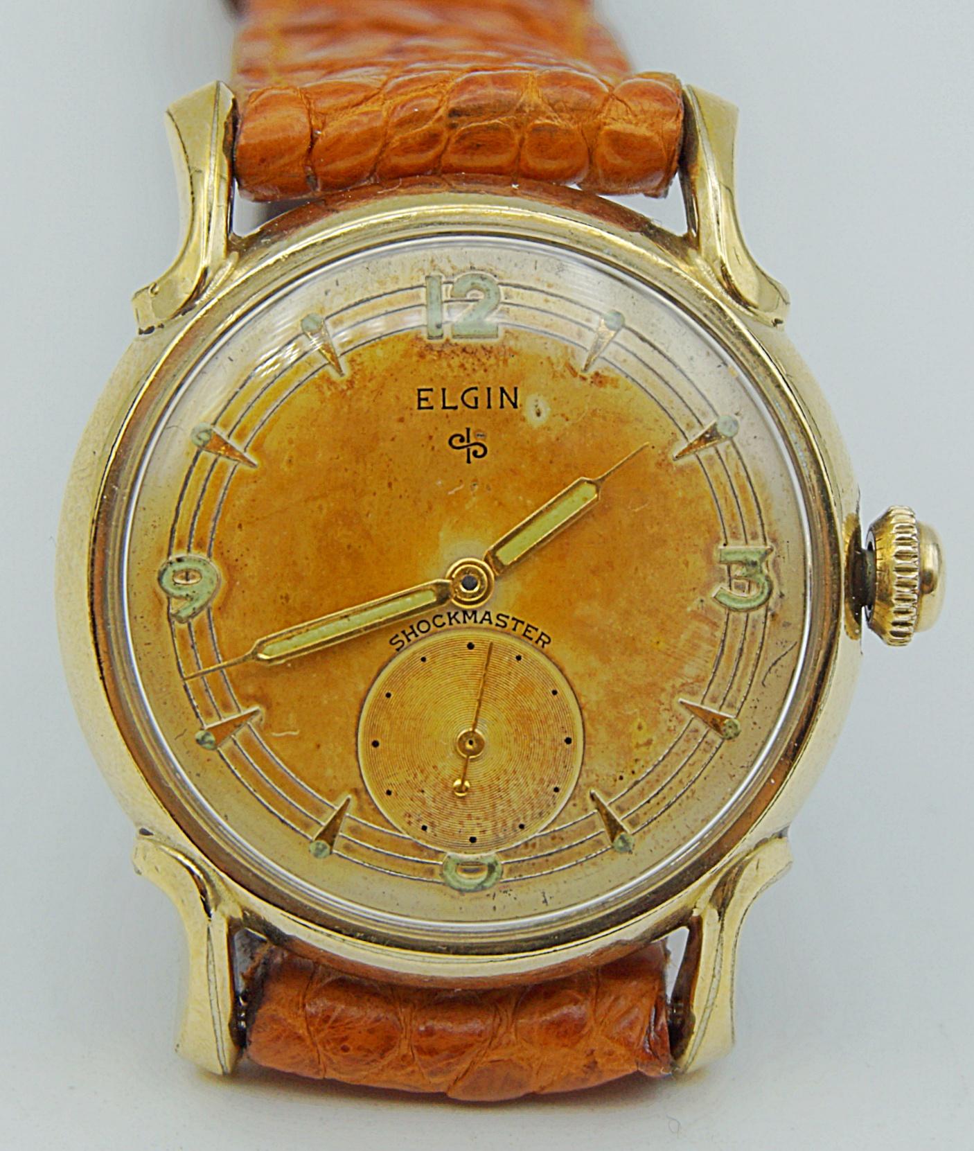 นาฬิกาเก่า ELGIN ไขลานสองเข็มครึ่ง