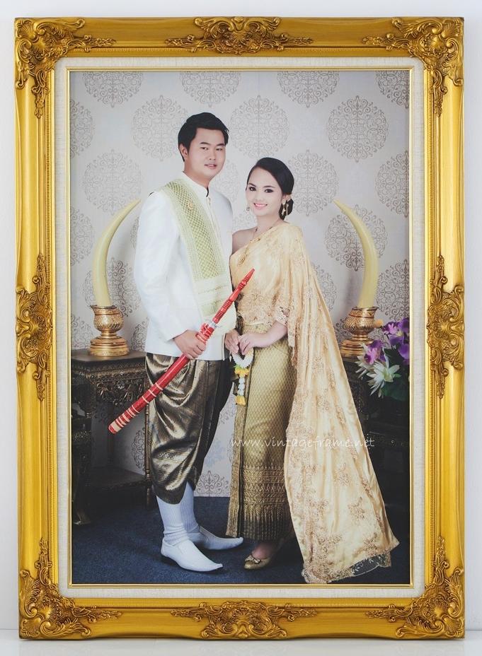 กรอบหลุยส์ใส่ภาพแต่งงานชุดไทยราคาถูก