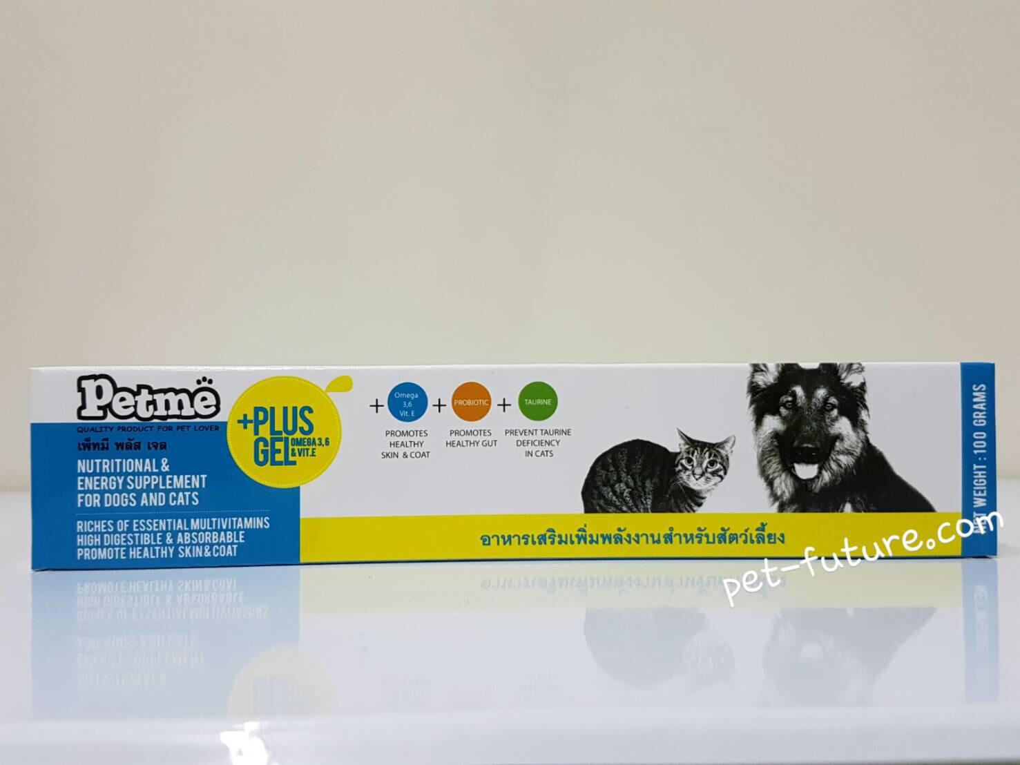 Pet+me Plus Gel สัตว์ที่ได้รับการผ่าตัด,ยาบำรุง,อาหารเสริม (หมดอายุ 03/18) ขนาด 100 กรัม