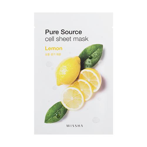 Missha Pure Source Cell Sheet Mask 21g #Lemon