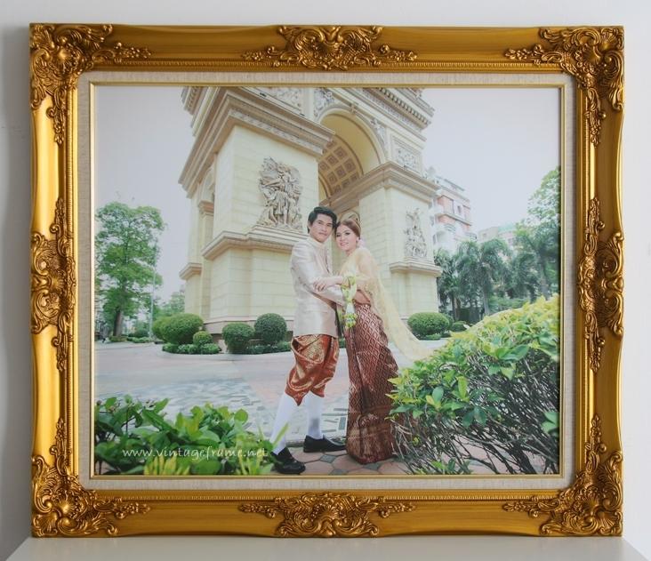 กรอบรูปชุดไทย วิธีเลือกกรอบหลุยส์แต่งงาน กรอบรูปแต่งงานราคาถูก กรอบหลุยส์สีทอง