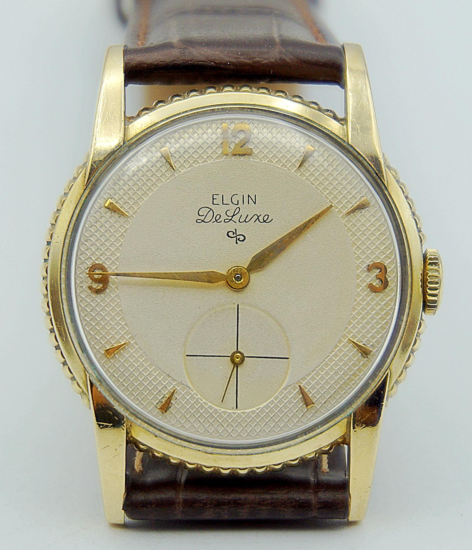 นาฬิกาเก่า ELGIN ไขลานสองเข็มครี่ง
