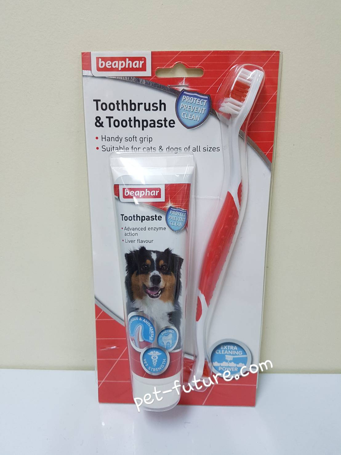 Beaphar Toothbrush & Toothpaste รสตับ Exp.10/19