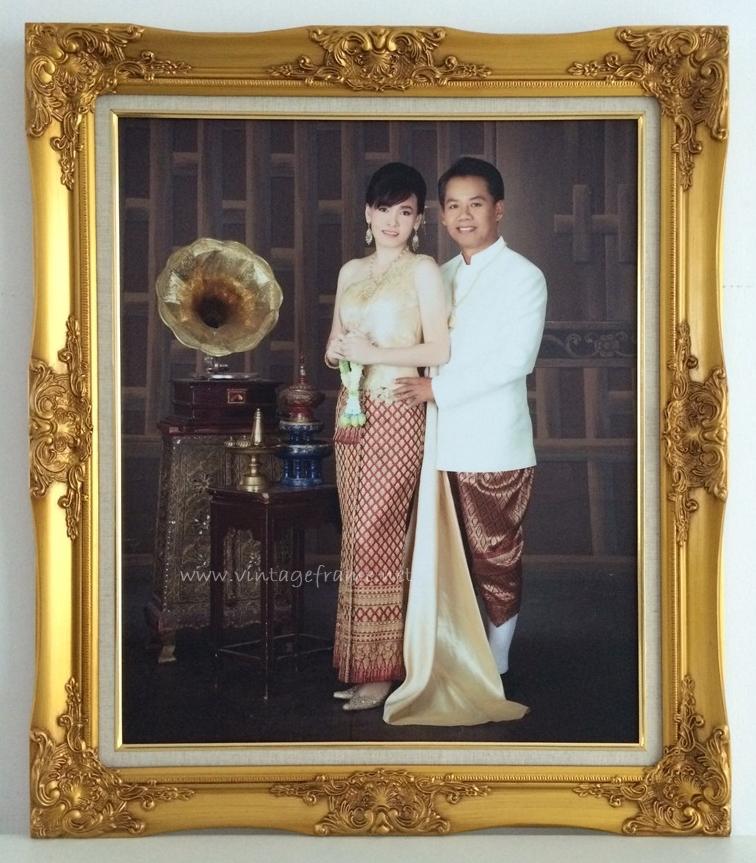 กรอบหลุยส์แต่งงาน กรอบหลุยส์ชุดไทย กรอบรูปชุดไทย