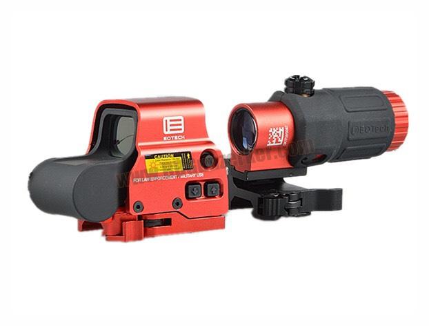 Set EoTech EXPS3-4 + ซูมหลังดอท G33 STS สีดำ/แดง
