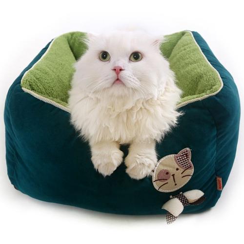 ที่นอนหนานุ่มสำหรับน้องแมว ขนาด 45x45x25 cm