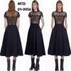 Brand : self portrait ชื่อรุ่น : felicia embroidered midi dress in black