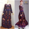 Embroidery Printed Long Sle