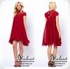 ASOS Dress เดรสผ้าชีฟองพริ้วๆ ใช้ผ้าเยอะมากค่ะ ตัดต่อลูกไม้ถัก ลูกไม้ลวดลายสวยๆ สีโทนแดงเด่น