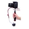 Stabilizer Video Steadicamด้ามยึดสำหรับถ่ายภาพเคลื่อนไหว-สีแดง/เงิน