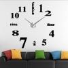 นาฬิกาDIY ขนาดจัมโบ้90cm สีดำ big2A