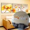 Art-ki ภาพปลาคาร์ฟ 9 ตัว บัวสีทองแนวนอน ได้ 3ภาพ