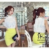 Korea White Nice Sleeveless Blouse by Seoul Secret