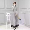 Embellished Lace Long Sleeve Maxi Dress