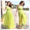 Chiffon fairy bohemian maxi dress แม็กซี่เดรสสีเขียวมะนาว ยาวพริ้วสวย เนื้อผ้าชีฟองPremium Quality Grade