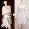 Star Guipure Lace Dress