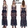 Brand : self portrait ชื่อรุ่น : amaryllis sheer column dress
