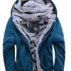 fashion เสื้อกันหนาว มีฮู๊ด สีฟ้า (รอสินค้า15-20วัน)