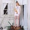 Kayasis dress (แขนแก้วขาว) เดรสแขนยาวเนื้อผ้าแก้วอย่างดี ตัวเดรส สกรีนลายสวยคมชัดทั้งตัว