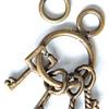 ABS หัวซิป พวงกุญแจ 4 ดอก